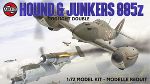 Airfix Hawker Hound + JU885 early 1980s box style by yereverluvinuncleber