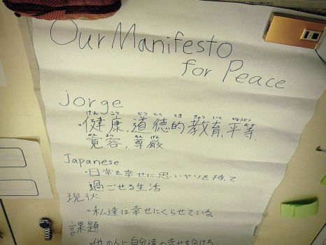 Our Manifesto for peace, AIESEC Japan | Hiroshima. by JorgeToei