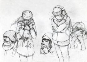 Cold. Sketches by Moon-In-Milk