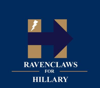 Ravenclaws for Hillary (Blue-Purple Arrow)! by HawkEagleWolf
