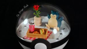 Poke Ball Terrarium - Snorlax Kitchen by TheVintageRealm