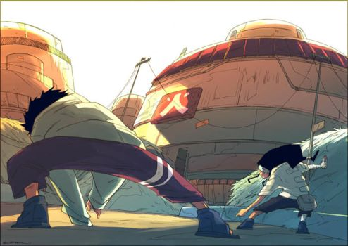 Neji VS Shino :::: by ArtofGrelin