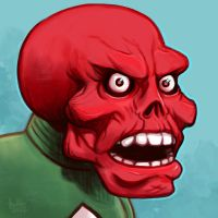 Daily Sketches Red Skull by fedde