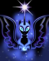 Nightmare Moon Shines Bright by DarkLight02
