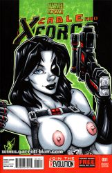 Naughty Domino sketch cover by gb2k