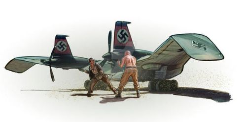 Indy flying Wing fight by jasonpal