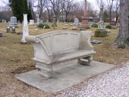 Cemetary Stone Bench 0309 3 by OsorrisStock
