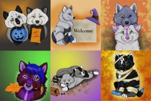 Fall Puppies ( ALL SOLD) by NatsumeWolf