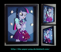 11x14 EqG Twilight and Filly Shadowbox by The-Paper-Pony