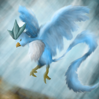 Articuno alighting by PipeDreamNo20