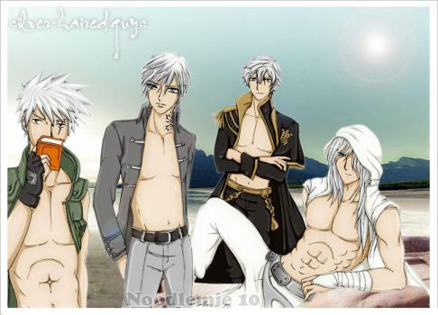 silver haired guys by noodlemie