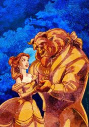 Beauty and the Beast Etched by VigStarmax