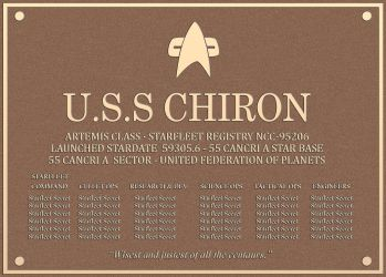 USS Chiron Dedication plaque by sc452598073