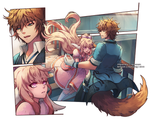 Commission [Mash-Up] : Kyo and Sirie by Darkavey