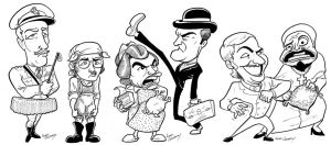 Monty Python Caricatures by DadaHyena