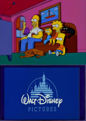 The Simpsons watch Disney by Anarchrist17