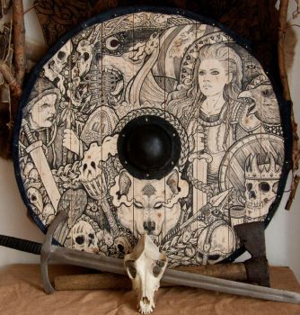 Lagertha Viking Shield by ZawArt
