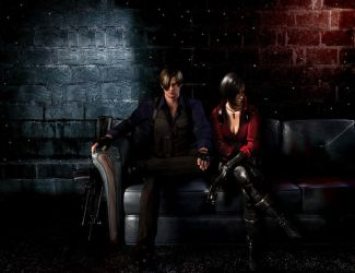 Leon S Kennedy and Ada Wong by ElfsDeathBox360