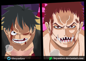 Luffy vs Katakuri (One Piece Ch. 893) by bryanfavr