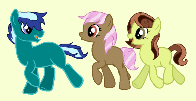 Earth Pony Adopts! CLOSED by SnowingRoses