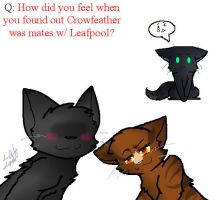 Q2: ....Leafpool. And. Crowfeather.  :T by Ask-Nightcloud