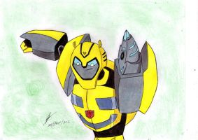 Bumblebee animated cybertronian mode by ailgara