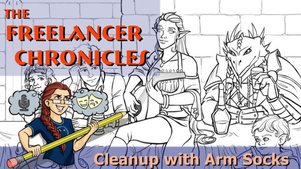 THE FREELANCER CHRONICLES: Cleanup with Arm Socks by BrittanyMichel
