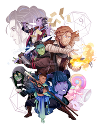 Critical Role - The Mighty Nein [SPEEDPAINT] by ABD-illustrates