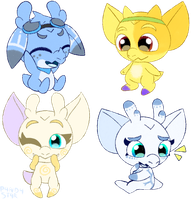 Icy and Windy babies by P4ND4-ST4R