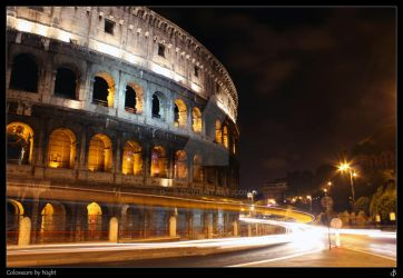 Colosseum by Night by d---b