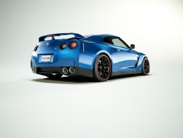 2008 Nissan GT-R Time Attack: Blue Edition by advanRE7