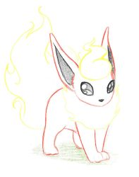 Pokemon Sketch request 01 - Flareon by Azouie