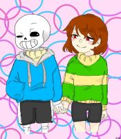 Sans X Chara or how I call it: [Chans-er] by ConnyWolfLove