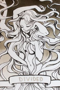 INKTOBER 2017 : Divided (2) by Sophie-Dreamy