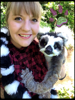 SOLD!!! TBL RECYCLED CLOTHING Handmade Lemur by TouchedbyLavender