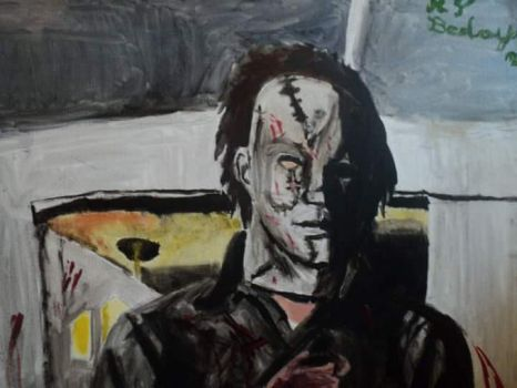 Michael Myers oil painting by HorrorArtistfromCali