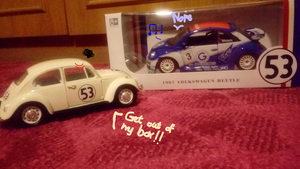 VW beetle in the wrong box by FaraWolfdog