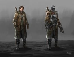 Post Apocalyptic character design by d-torres