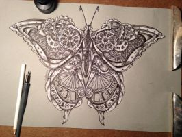 Steampunk butterfly by wystery