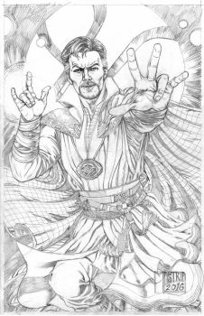 Dr.strange Pencil by AntonioMastria