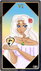 Tarot Card number VI: The Lovers by RoX-Ann