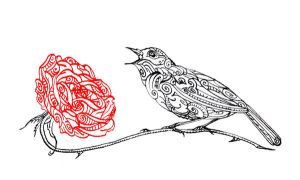 Nightingale and the Rose II by ADAtheQueenOfHEARTS