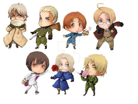 Hetalia - stickers by oneoftwo