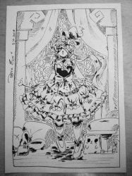INKTOBER Day 9: Lolita Witch - CELO by Drawing-Heart