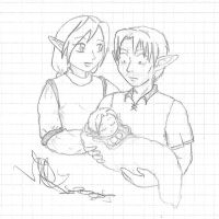 Baby Link and his parents by DiKya
