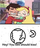 The Moon wants Star and Marco to Kiss by schumacher7