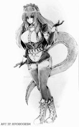 Lamia Maid humanoid commission art (done) by kro0gie04