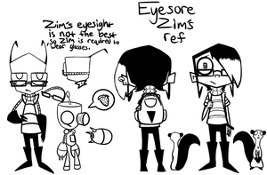 IZ Eyesore headcanon Zim and Gir ref by ReneesRetrograde