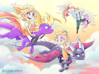 Spyro - Mission Flight by cloudypouty