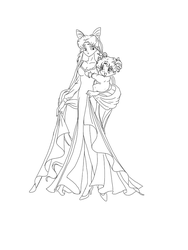 Request: Usagi and Chibiusa by Kyos-Corner